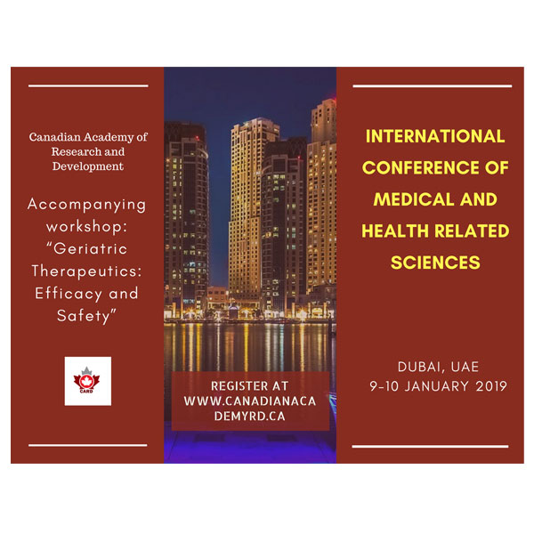 International Conference of Medical and Health Related Sciences  (Med-Dubai-2019)