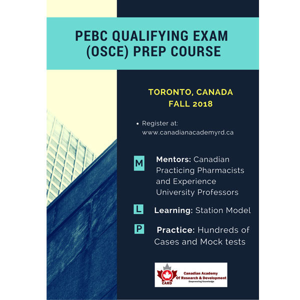 Canadian PEBC Qualifying Exam Part 2 (OSCE) Preparation Course